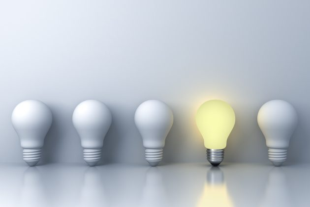 light bulb imitating concept of consultancy