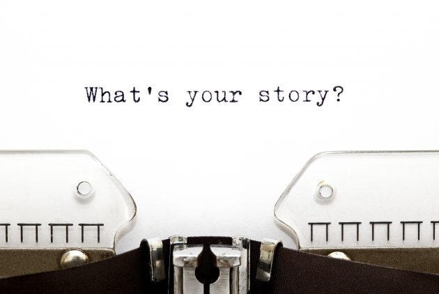 what's your story typewriter image