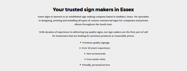 essex signs and banners